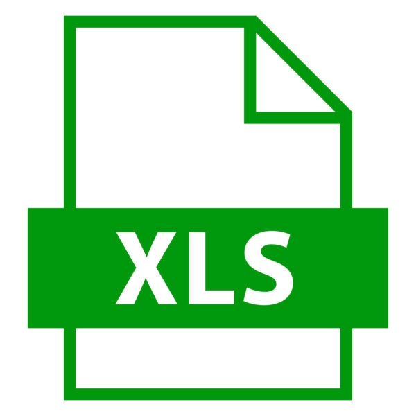 Use it in all your designs. Filename extension icon XLS Microsoft Excel Binary File Format in flat style. Quick and easy recolorable shape. Vector illustration a graphic element.